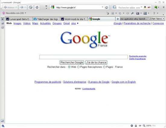 Lunascape 6.0 ORION (le navigateur internet ultime) 13
